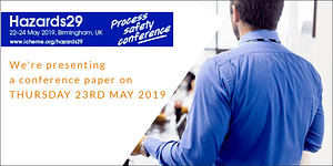 Jon Keswick presents paper at IChemE Hazards29 on Safety Instrumented Systems Functional Safety Assessment Experiences - May 23rd 2019 - ICC Birmingham