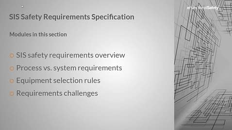 Safety Instrumented Systems FOUNDATION Section 5